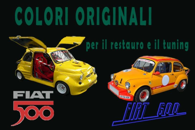 Produzione E Vendita Colori Originali Per Fiat 500 A Brescia