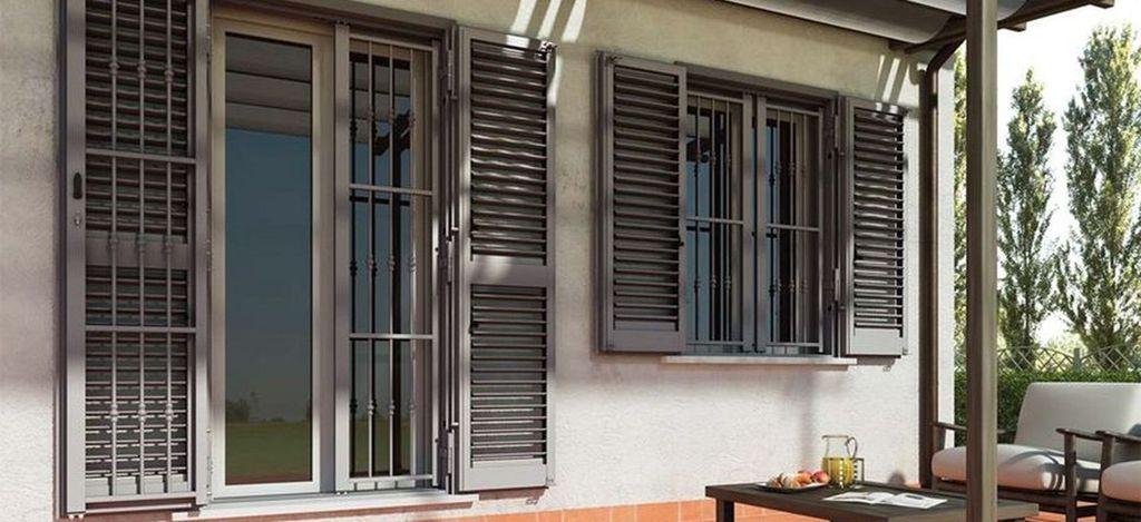 Persiane blindate brescia - Grate per finestre villa ...