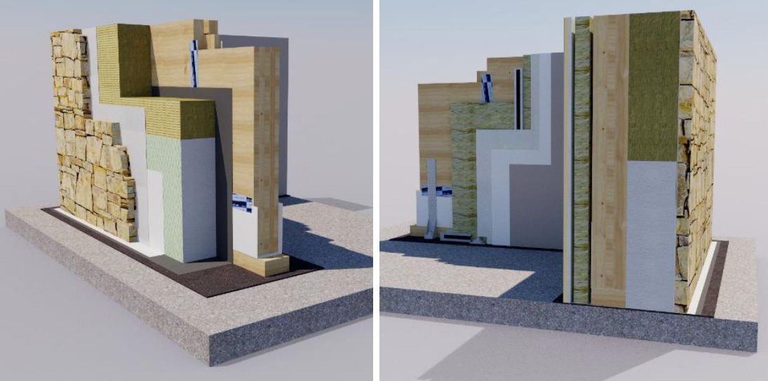Interesting latest parete con in pietra costruzione case - Parete rivestita in pietra ...