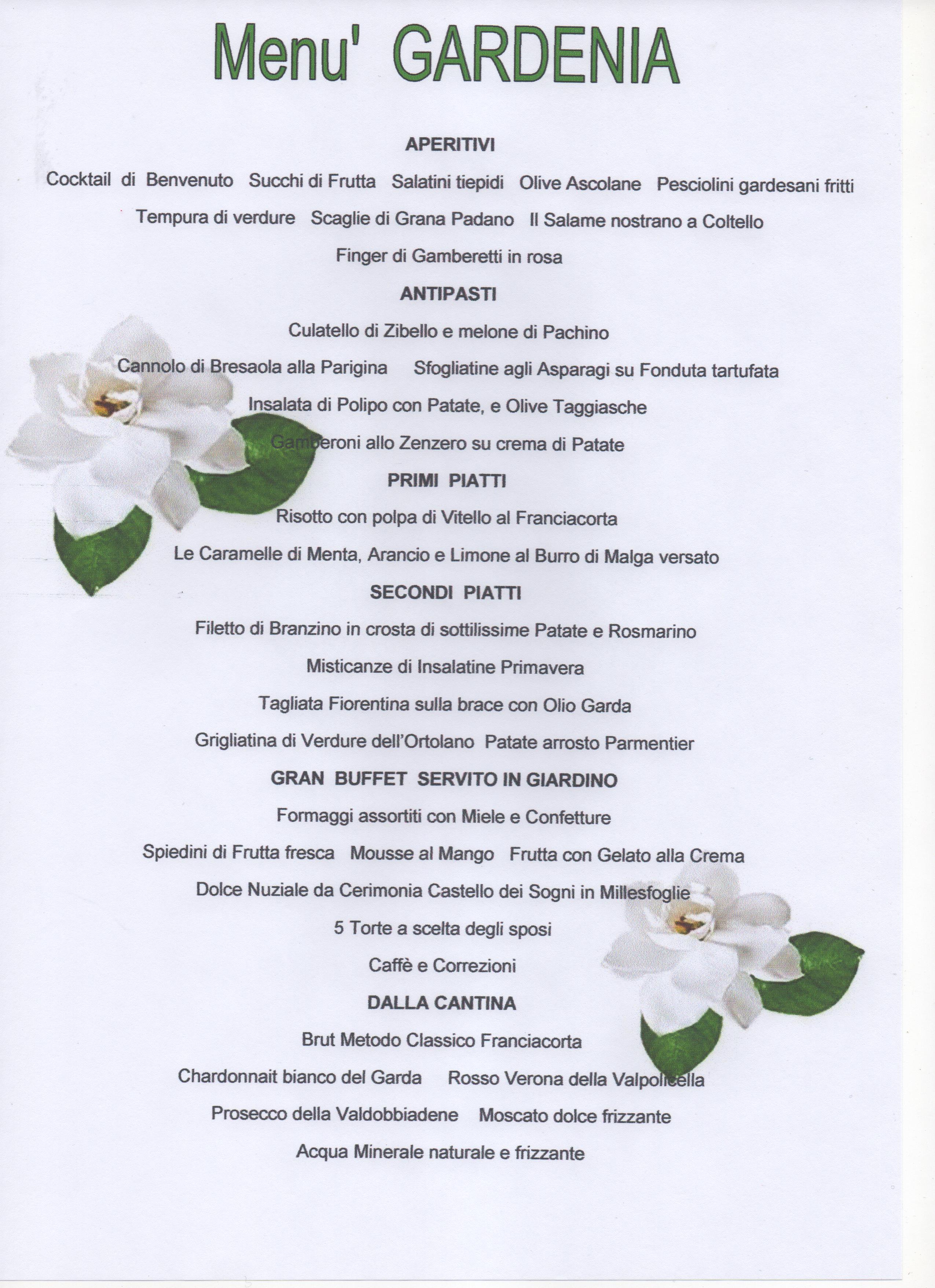 Top menu speciali per le nozze GU32