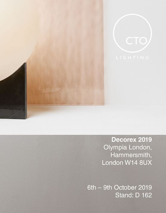 CTO Lighting - Visit us at Decorex international 2019