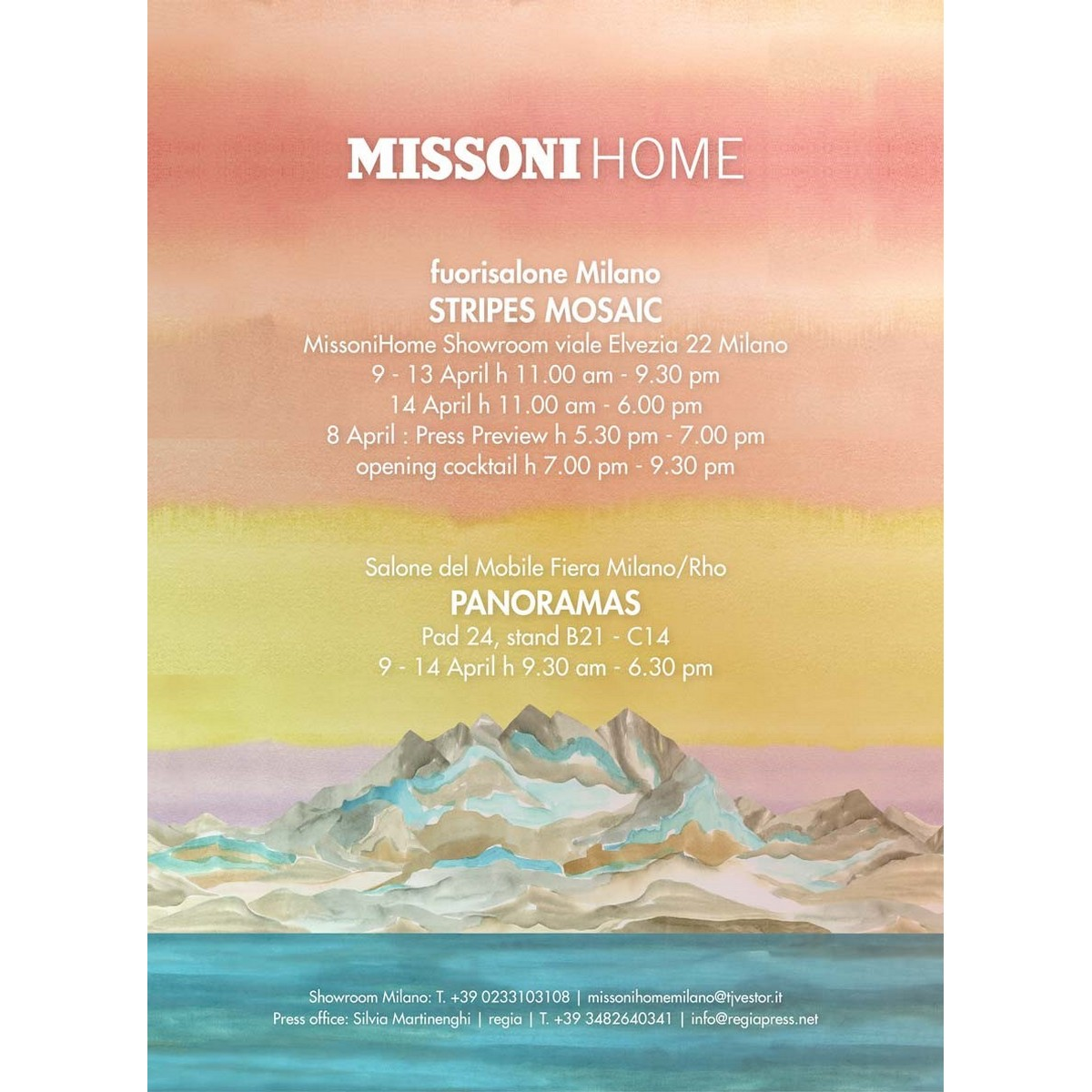 MISSONI HOME  |  SALONE DEL MOBILE 2019 Milan