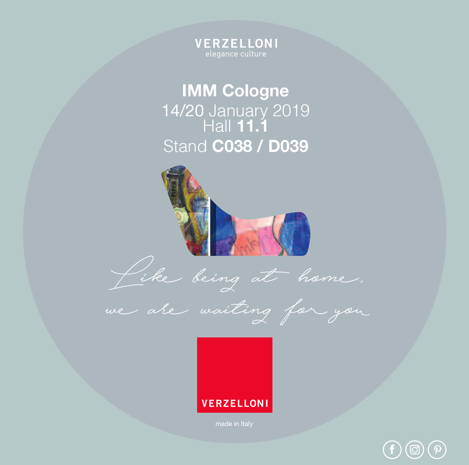 VERZELLONI at IMM Cologne |14-20 January 2019