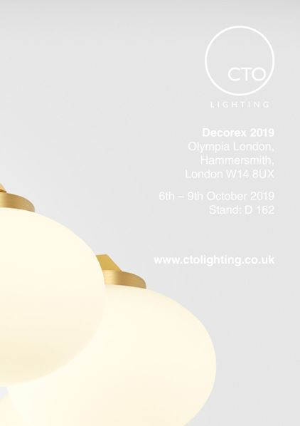 CTO Lighting - Showing new collections at Decorex international 2019